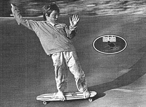 The First Skateboarding Ad - Surf Guide - Makaha Skateboards - Joey Saenz