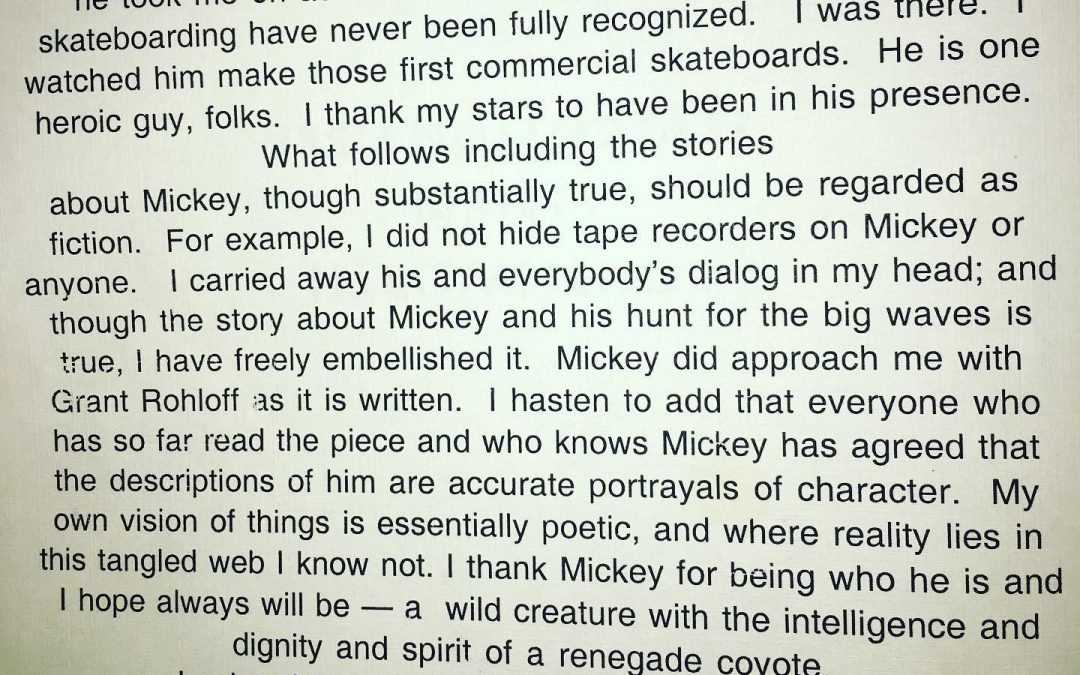 Bill Cleary preface / the short happy life of Surf Guide. Da Cat / Mickey Dora.